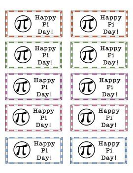 Pi Day Stickers FREEBIE
