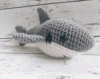 sasha the shark crochet shark stuffed animal shark amigurumi plush animal made - Hai Kissen Muster