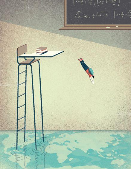 American Way  Creating a Gap. #Illustration by Davide Bonazzi.