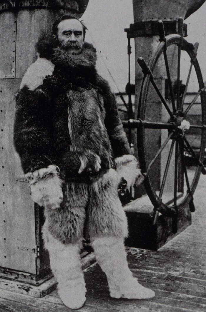 Robert Peary in the Arctic. Under order to observe tides for C during North Pole expedition.