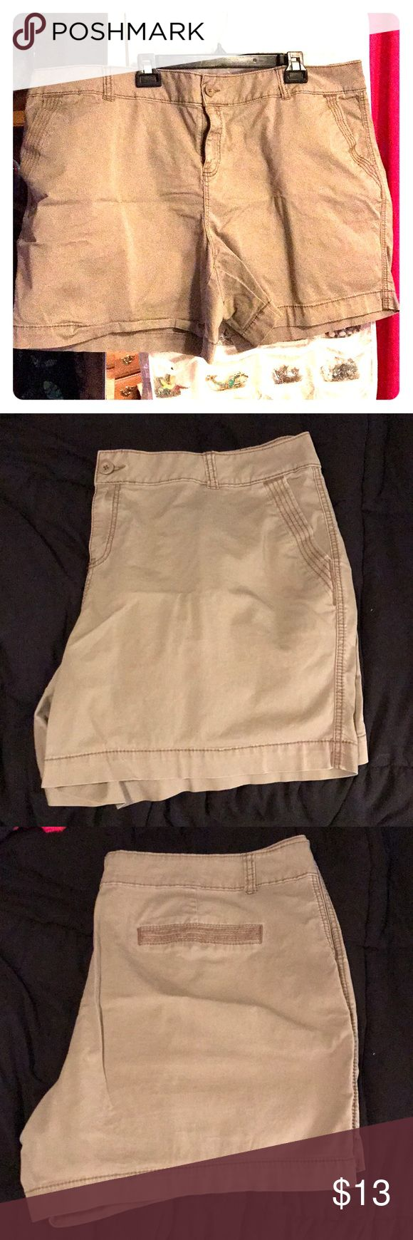 Tan Chino Shorts Dark tan Chino Shorts from Maurices. Worn only 2x, comfortable! Maurices Shorts