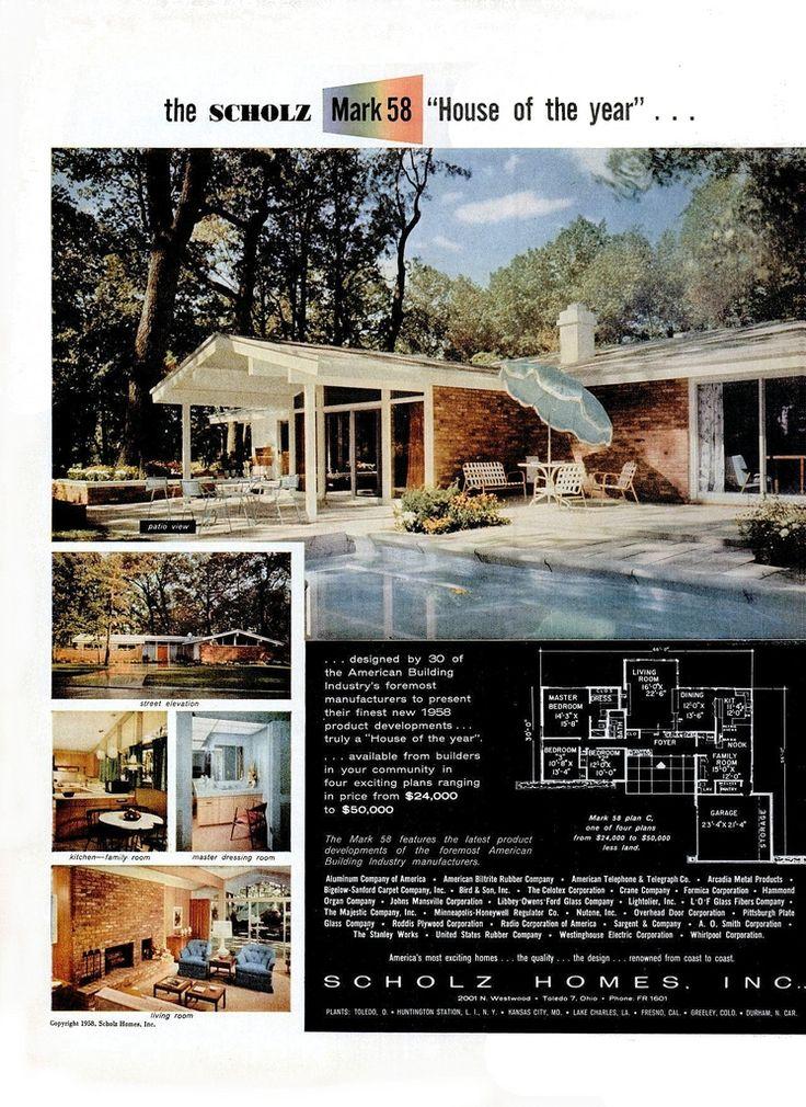 388 best House Plans images on Pinterest | Modern houses, Vintage ...