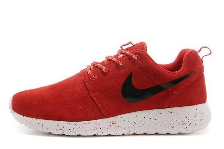 Explore Nike Roshe Run Suede Mens Waterproof Red Black Black Friday Sale