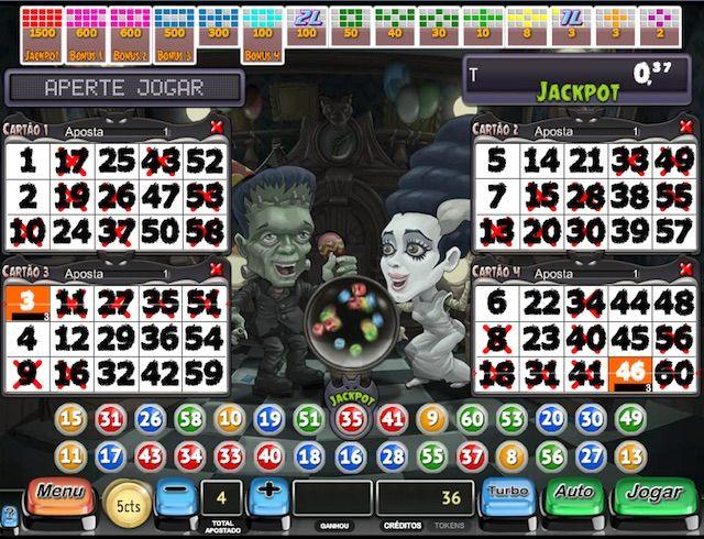 Jogar Video bingo Monsters Bingo