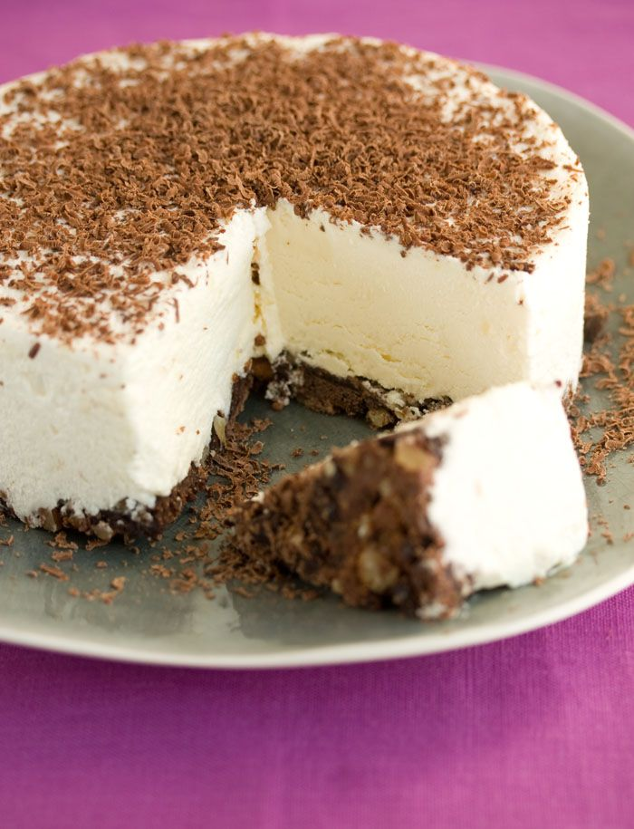 White Chocolate and Brownie frozen Torte - Only 4 ingredients.