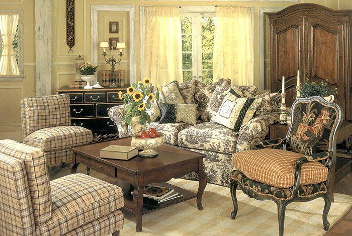 Фото: мебель в гостиной провансальского стиля