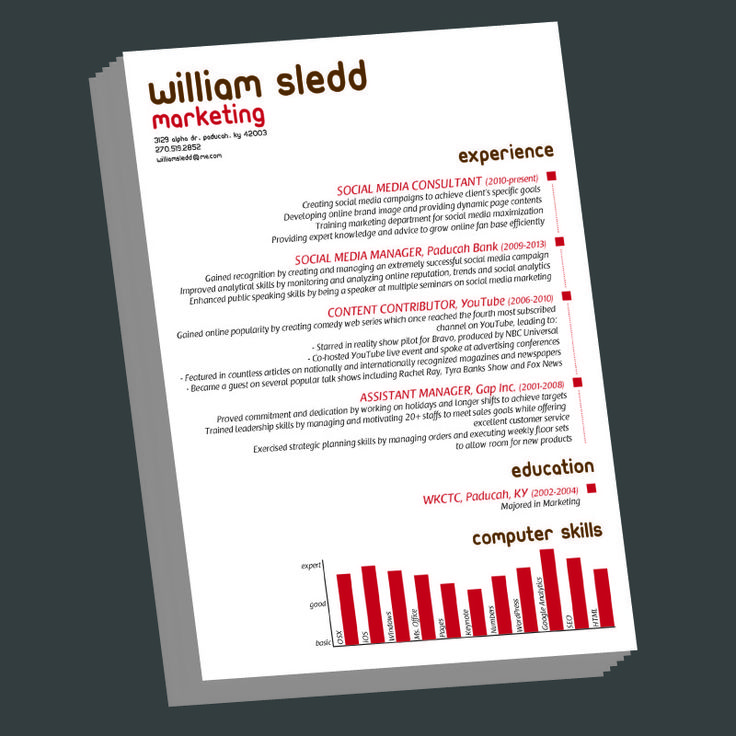 Infographic Resume Vol1 Infographic resume, Infographic and Cv - social media consultant sample resume