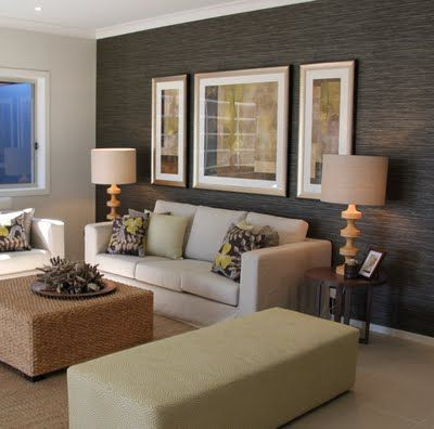Angela Steyn Interiors: Eco Coastal House Textured Wallpaper Darker Feature  Wall In Living Room Part 87
