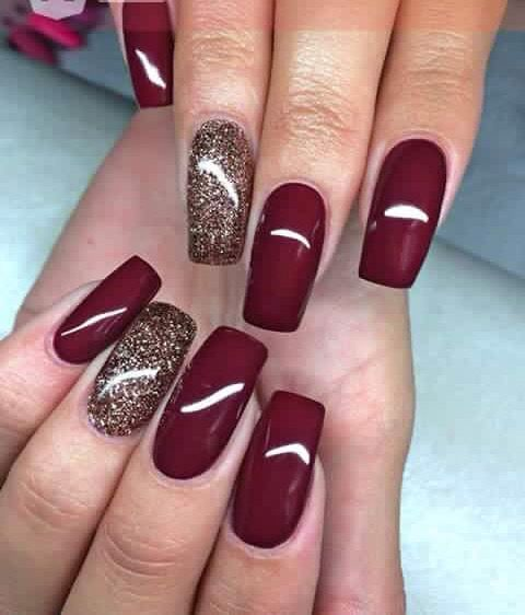 Burgundy with some shimmer! Perfect for Xmas holiday...