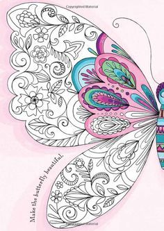Zentangle Color Butterfly Zentangle drawings colour