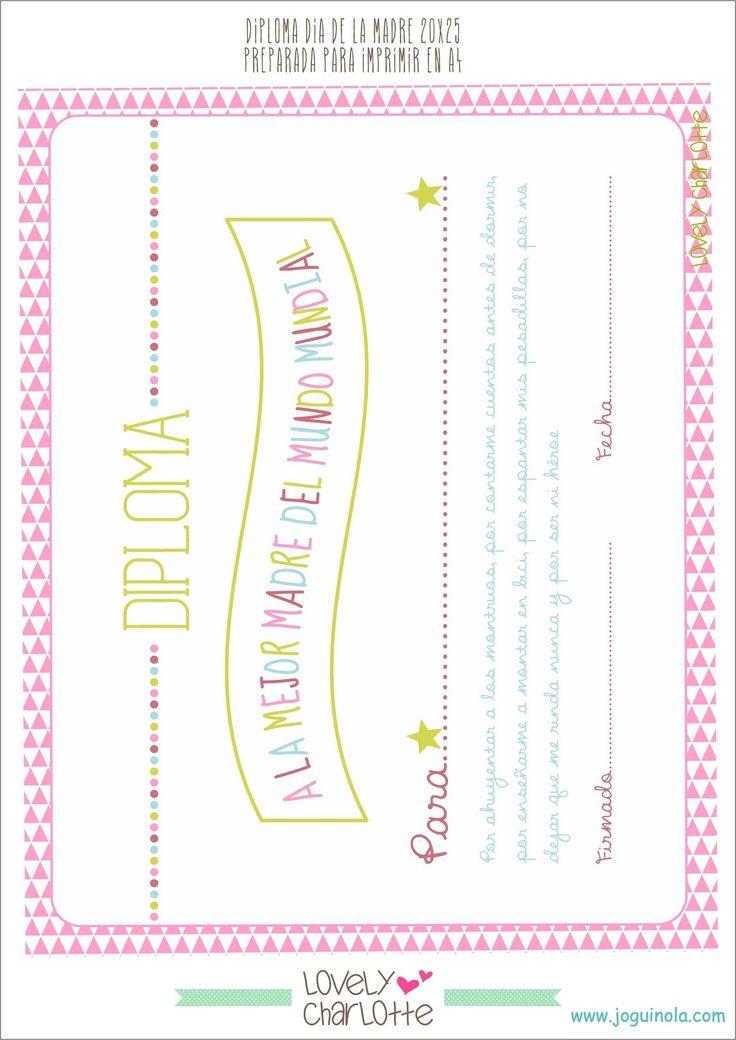 Joguinola.COM: Imprimibles Día de la Madre