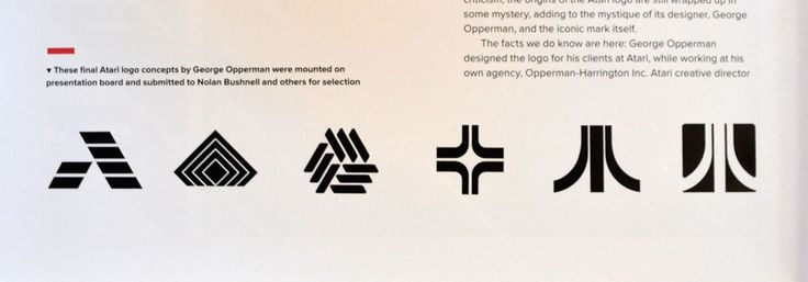 """Atari logo concepts  He gave me a bunch of doodles, so I said, 'Use this one,' and that was it."""""""