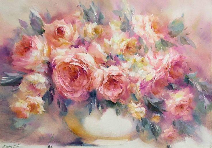 Розы картины маслом