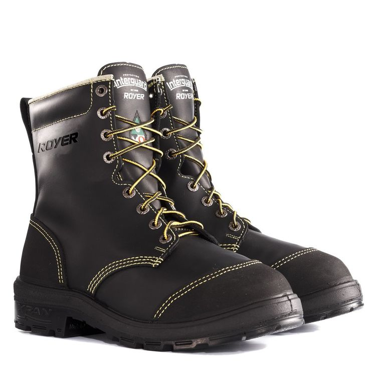 "ROYER > ""XPB Interguard Metatarsal"" CSA Steel Toe Boots, Black"