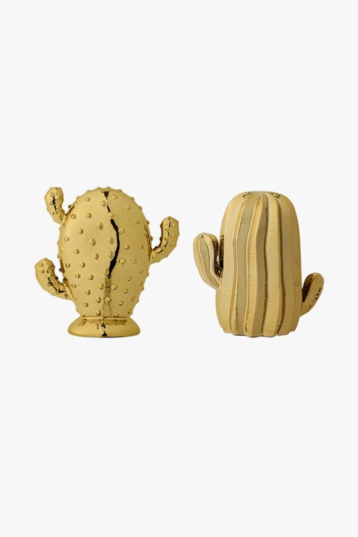 Cactus dorés de décoration - Bloomingville
