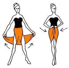 Turn your long skirt into a medium length skirt