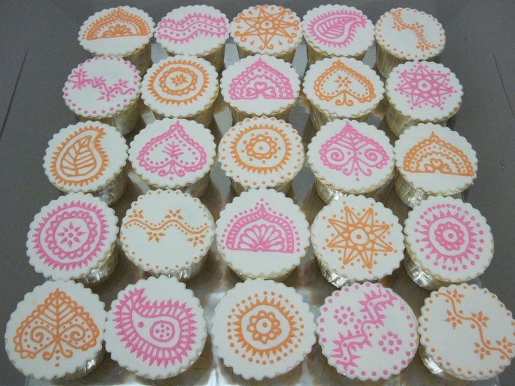 Mehndi Cupcakes : Best images about henna inspired food yum on