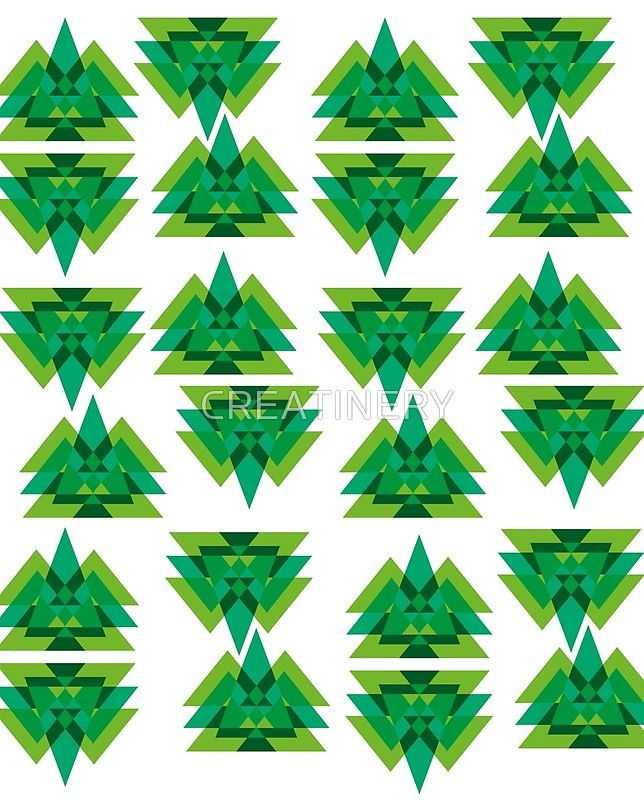 abstract green triangle