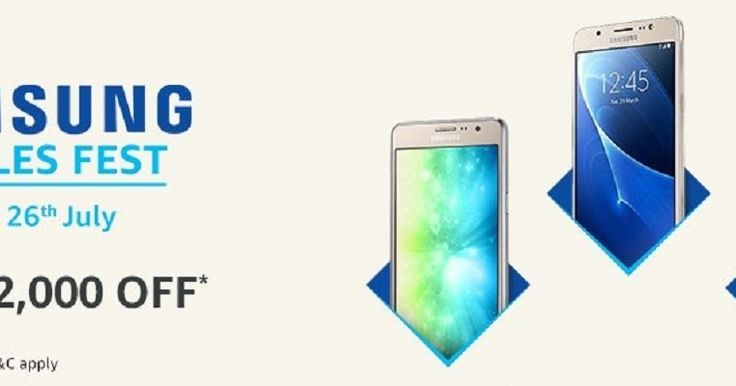 Samsung Mobile Fest is live on Amazon India from 24th to 26th July 2017    Samsung Mobile Fest is now live on Amazon from 24th to 26th July 2017:-  Here are the top deals athttp://clnk.in/e2Vy  Amazon is offering discounts and deals on Samsung Galaxy On7 Pro Galaxy On5 Pro Galaxy C7 Pro Galaxy J5 and Galaxy On 8  Samsung and Amazon India have announced a two-day sale of some of its popular budget and mid-range smartphones with interesting discounts and exchange offers. While most of the…