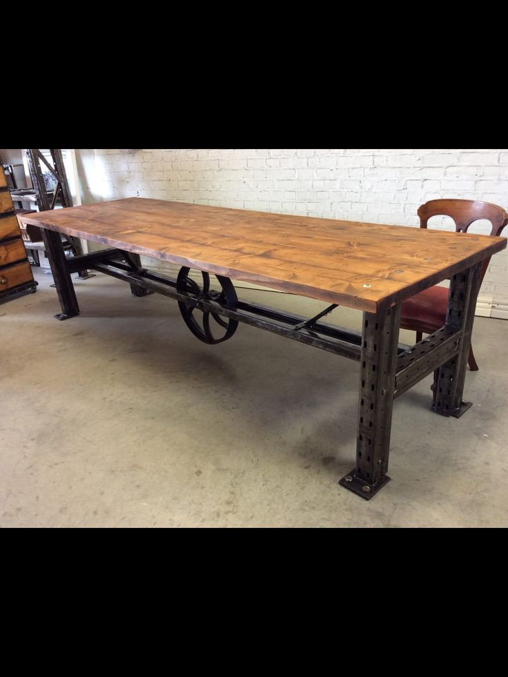 """Industrial style cafe table """"glass den"""""""