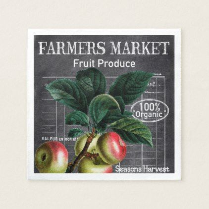 Country Vintage Farmers Market party napkins - home gifts ideas decor special unique custom individual customized individualized