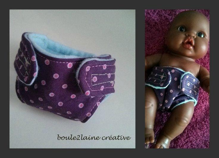 Série couture pour poupée... des couches!