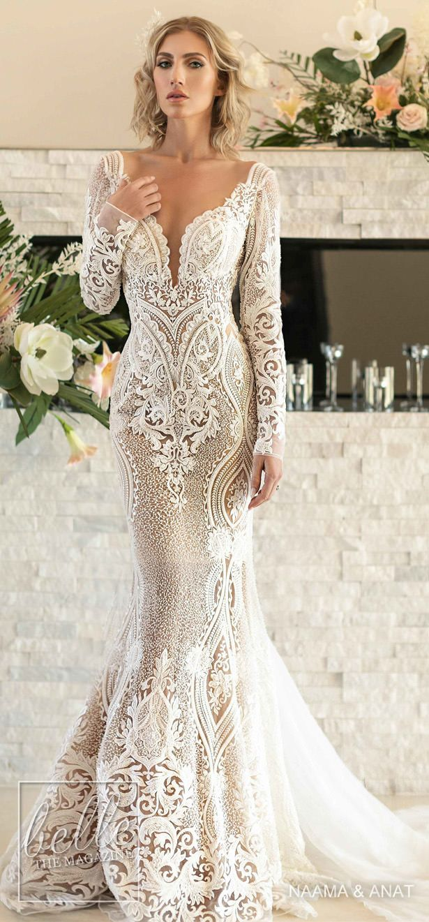 Naama And Anat Wedding Dresses 2020 The Royal Blossom Collection Lace Wedding Dress Vintage Lace Mermaid Wedding Dress Wedding Dresses Romantic,Beach Cocktail Dress Wedding