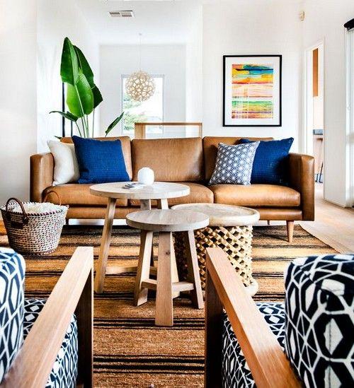 32 Interior Designs with Tan Leather Sofa. Interiordesignshome.com