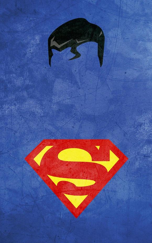 Minimalist super hero art by Calvin Lin