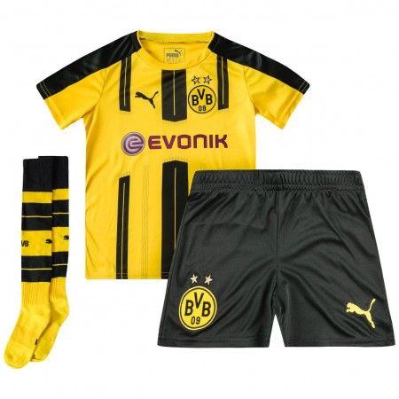 #BVB Borussia Dortmund Trøje Børn 16-17 Hjemmebanesæt Kort ærmer.199,62KR.shirtshopservice@gmail.com
