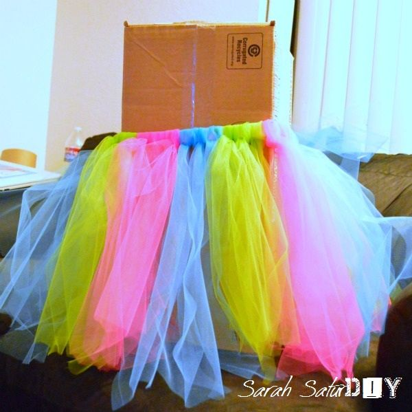 Tutu made from strips of tulle that is tied! Description from pinterest.com. I searched for this on bing.com/images