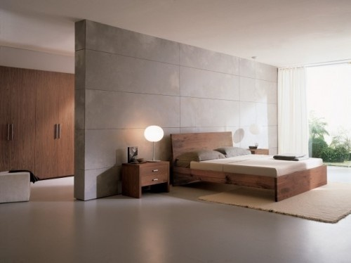 cool divider between bedroom and dressing area also like
