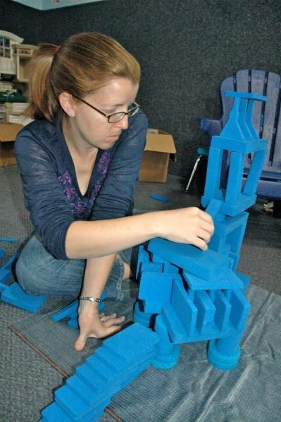 construction experiences with blocks and other manipulatives provide an experiential base for children to build scientific understanding