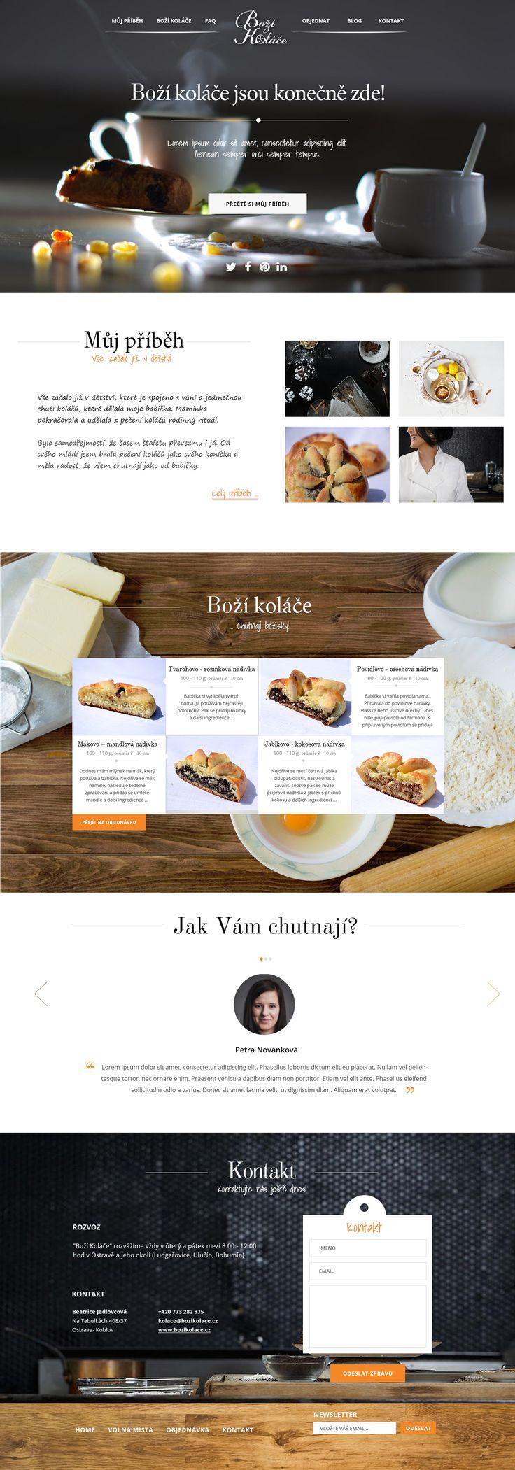 Kulinářské webovky zabývající se prodejem domácích koláčků. Made with ♥ in Brno by Steiner Media