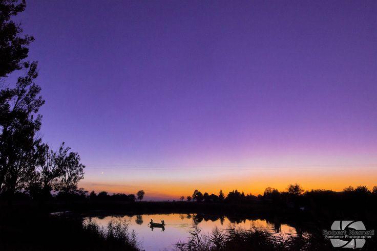 Fishing under an amazing sunset by Robert Nemeti on 500px