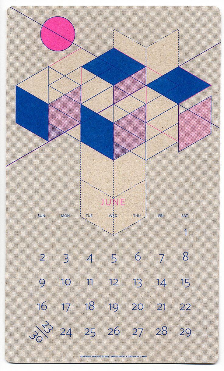 2013 Isometric Risograph Calendar