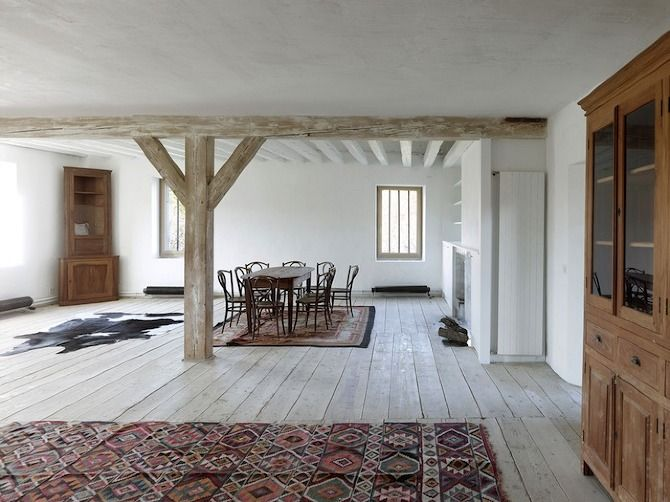Transformation of an Ancient Grange by Charles Pictet Architecte #interior #renovation #house