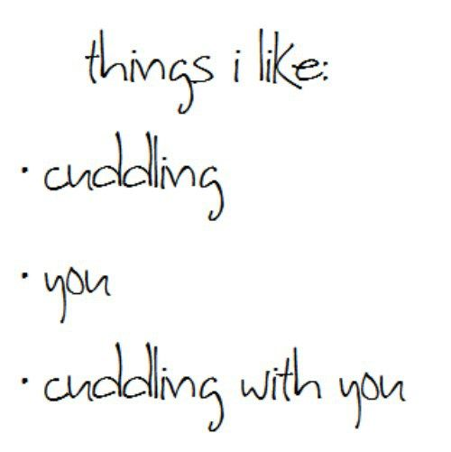 I Wanna Cuddle With You: I Wish We Were Cuddling Instead Of Me Sitting Here