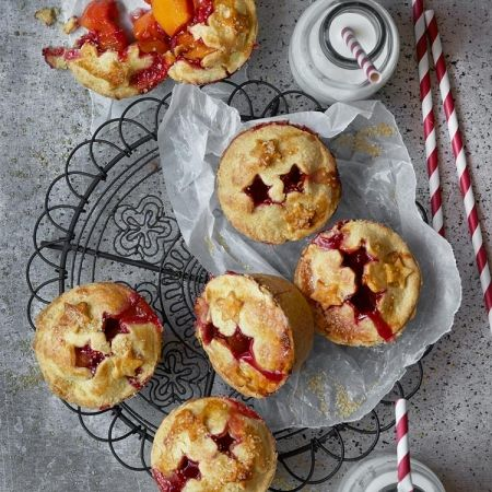These Mini Peach Pies couldn't be anymore delightful. They are the perfect Boxing day sweet treats that will warm up the heart. Click the picture for full recipe or go towww.redonline.co.uk.