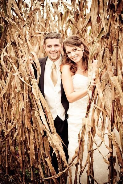 Kiko doesn't want a country wedding, but I love this picture in the corn field!