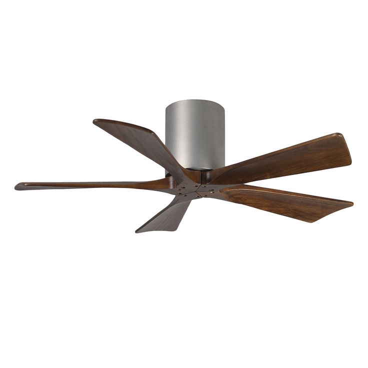 Matthews Irene 42 In Brushed Nickel Flush Mount Indoor Outdoor Ceiling Fan With Remote 5 Blade Ir5h Bn