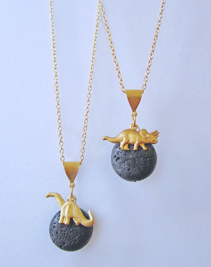The Land That Time Forgot Dinosaur Necklace — Eclectic Eccentricity Vintage Jewellery