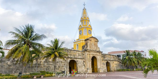 The clock tower of Cartagena de Indias Colombia !