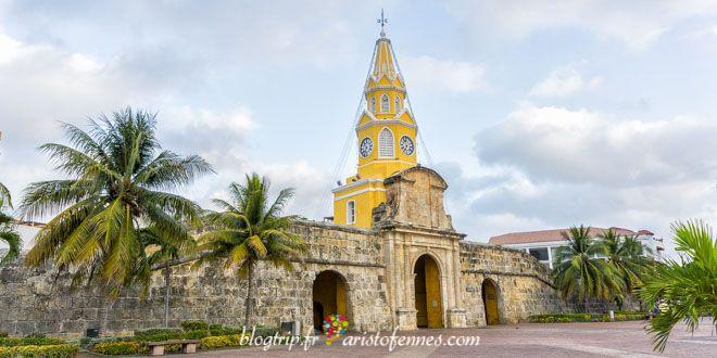 The clock tower of Cartagena de Indias Colombia !