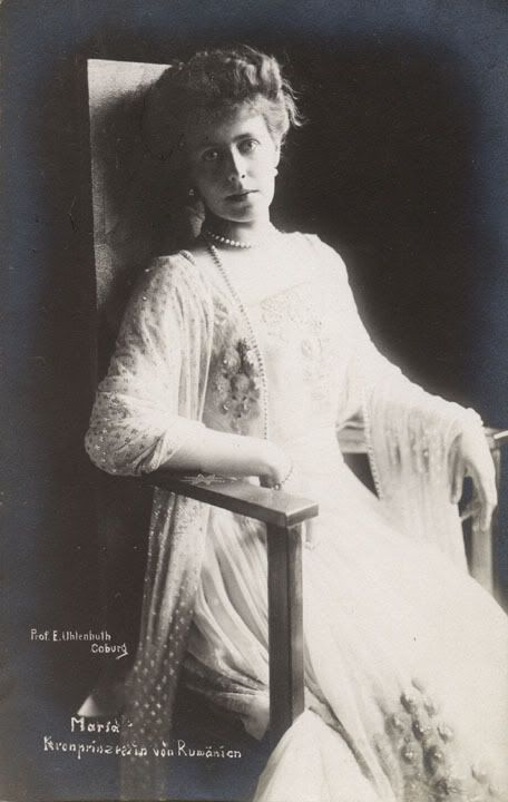 Marie of Romania (Marie Alexandra Victoria, previously Princess Marie of Edinburgh; 29 October 1875 – 18 July 1938) was Queen consort of Romania from 1914 to 1927, as the wife of Ferdinand I of Romania. She was called Missy by her family. Her father was the second-eldest son of Queen Victoria and Prince Albert. Her mother was the only surviving daughter of Alexander II of Russia and Maria Alexandrovna of Hesse.