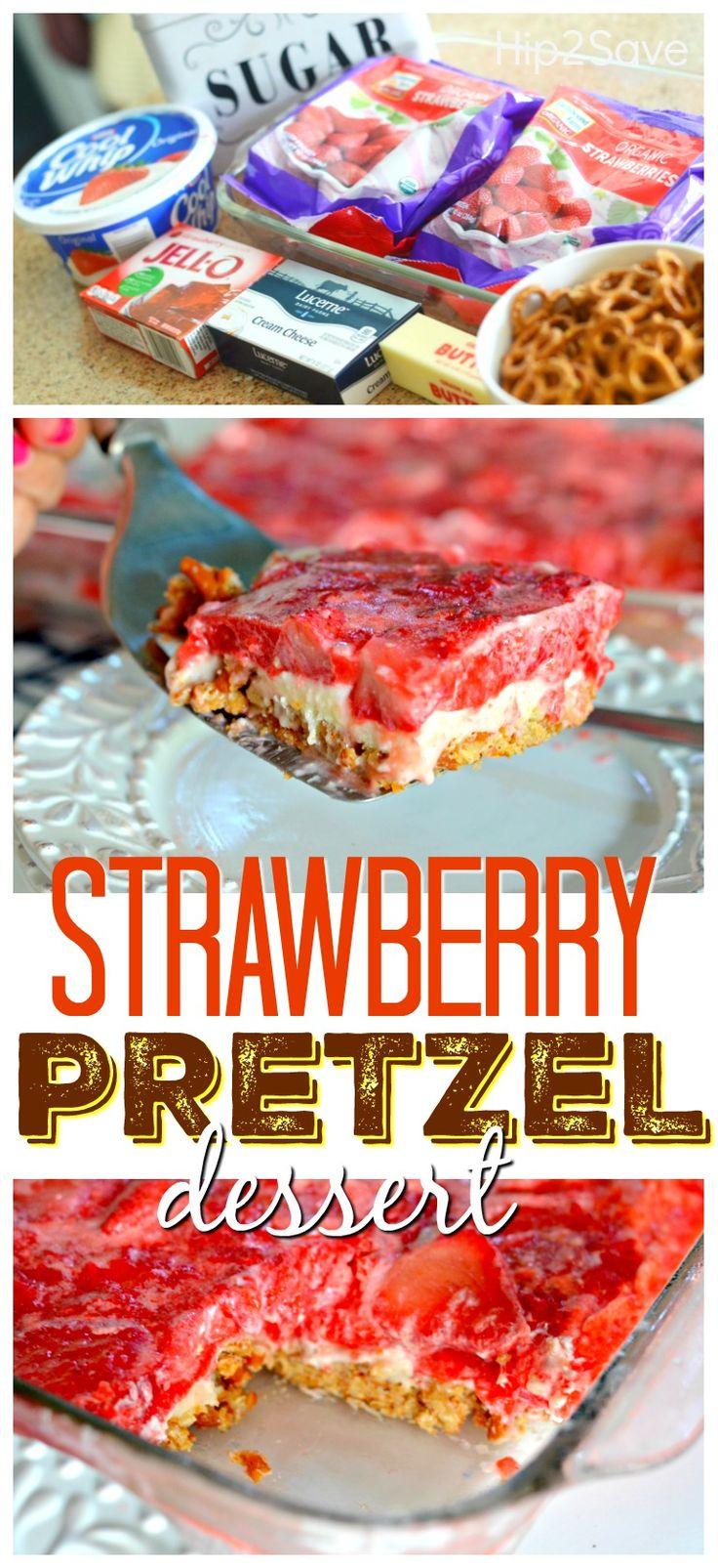 Easy Strawberry PretzelDessert