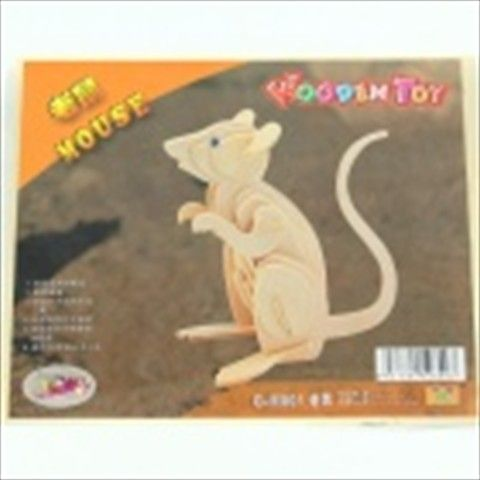 Wooden Assembly Rat Model - Wood $6.39
