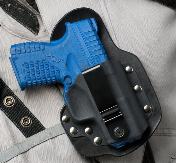 Inside the waist band (IWB) Single Point concealed carry holster for the Spring Armory XDS 45 ACP line. (3-5 oclock) Using Veg-Tanned cowhide, with