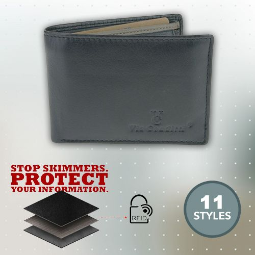 RFID Protected Mens Full Grain Leather Wallet | Buy Mens Wallets & Money Clips