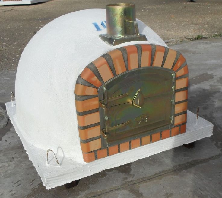 Epic WOOD BURNING BRICK CLAY STONE PIZZA OVEN WOOD FIRED WITH CHIMNEY cm x cm